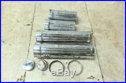02 Yamaha XV 1700 XV1700 Road Star Warrior chrome front fork tube shock covers