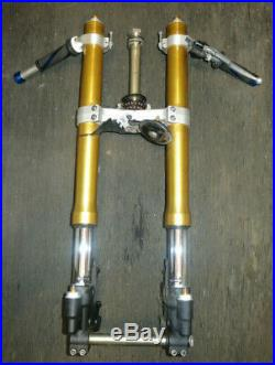 06 07 Yamaha Yzf R6 R6r Forks Tubes Suspension Front End Straight Good Oem
