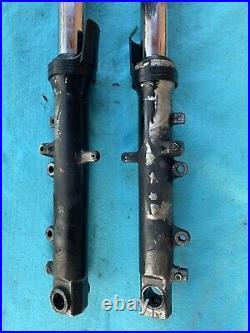 2001 2002 Yamaha Yzf R6 Both Front Fork Shock Suspension Tubes Set Pair Oem 99