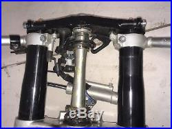 2007 2008 Yamaha Yzf R1 Front End Forks Triple Tree Clamp Fork Tubes Handle Bar