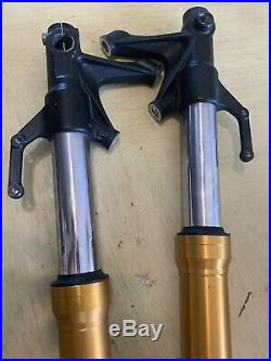 2014 2016 14 15 16 Front Forks Tubes Yamaha FZ-09 FZ09 Pair Gold OEM Straight