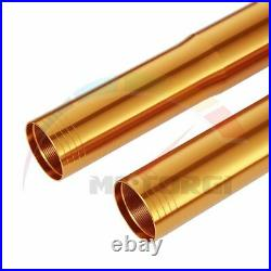 2x Stanchions Outer Fork Tubes Gold For YAMAHA YZF-R1M R1M 2015-2019 16 17 527mm