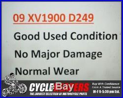 D249 2009 09 Yamaha Roadliner XV1900 Front Forks Tubes Shocks Legs