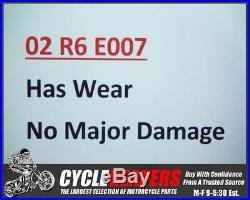 E007 2002 99-02 Yamaha YZF R6 Front Forks Tubes Shocks Legs