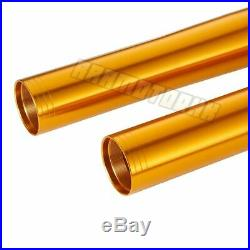Front Fork Outer Tubes For YAMAHA YZF R1 2015-2019 R6 2017-2019 Pipe Pair Gold