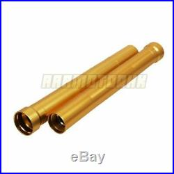 Front Fork Outer Tubes For Yamaha TZR250R 3XV 1991 1992 Gold 446mm Fork Pipes