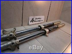 STRAIGHT FRONT FORKS! 97-01 yamaha yz80 yz 80 left right side tube leg shock oem
