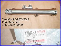 Yamaha RD350YPVS RZ350 Front Fork Outer L & R NOS Fork Cover TUBES 29L-23136-00
