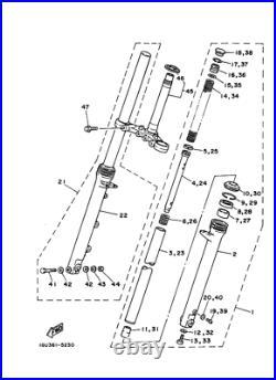 Yamaha TZR125 RD125YPVS Fork Inner Tube L+R NOS RD125LC MK2 TUBE 1GU-23110-00 x2