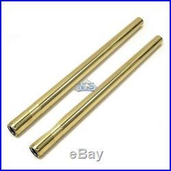 Yamaha XS650 SR500 Premium Gold Fork Tubes Titanium Nitride Stock Length